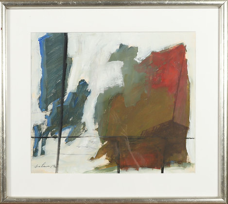 Abstract Oil, 20th Century, Framed