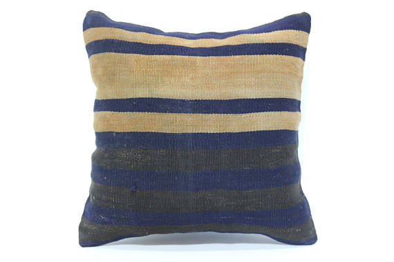 Blue and White Kilim Cushion