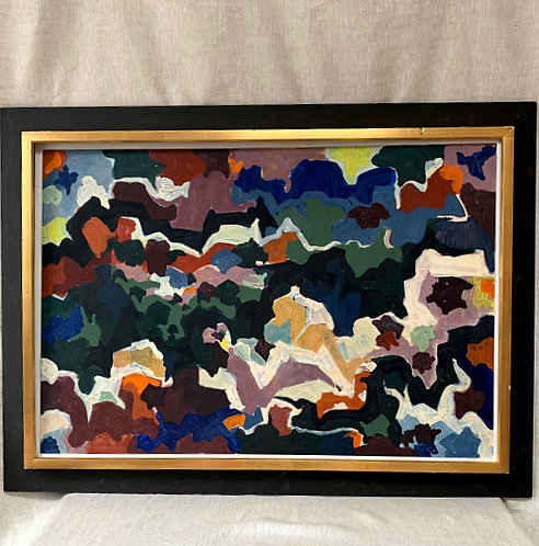 Framed Mid Century Oil Painting