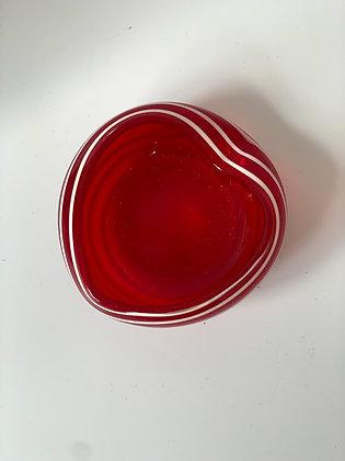 Heart Glass Trinket Dish