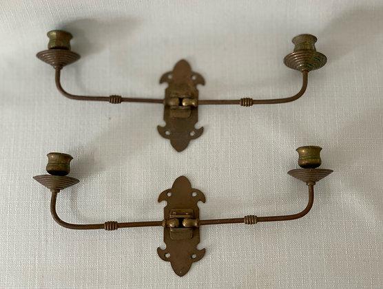 Pair of Antique Swing Arm Sconces