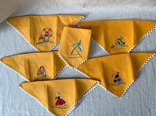 Set of Six Vintage Napkins