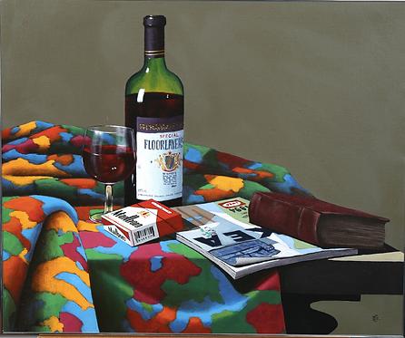 Framed Oil, Still Life by Czeslaw Dziamalek