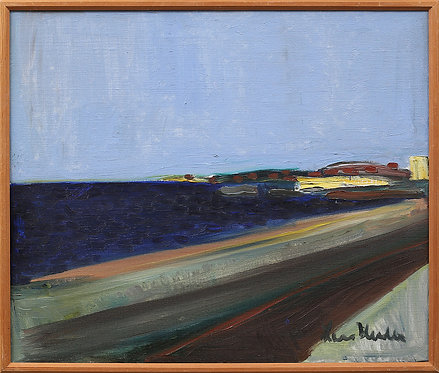Costal Landscape, Framed Oil by Lars Herder