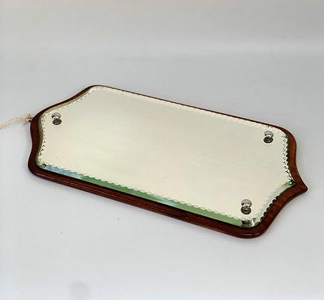 Victorian Bevelled Edge Mirror, Mahogany Back