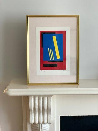 Framed Bengt Orup, Sweden, Original Color Lithography