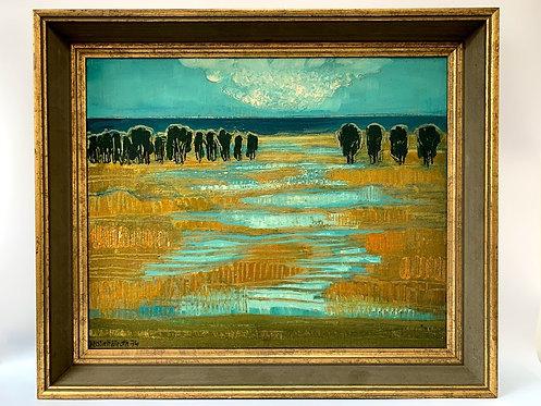 Landscape by Kerstin Hallroth, 1974