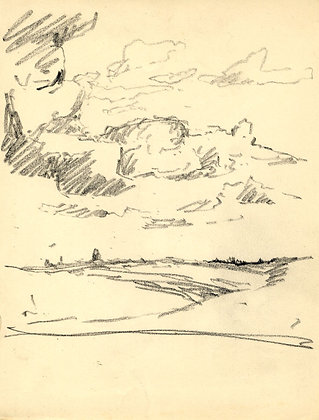 Marcus Adams - Four Early 20th Century Graphite Drawings, Landscape Studies