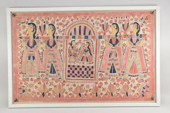 Asian Origin, Perhaps A Wedding Couple, Watercolour