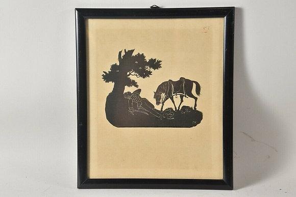 Framed Paper Cut, Monogrammed MK