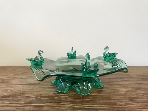 Beautiful Vintage Blown Glass Ashtray