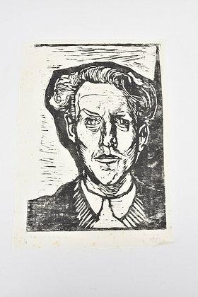 Linocut by Gustav Grund