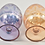 Thumbnail: Pair of Decorative Etched Glass Eggs