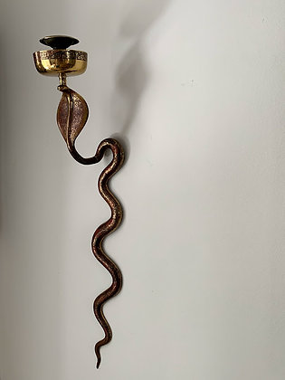 Early 20th Century Enamel Snake Sconce