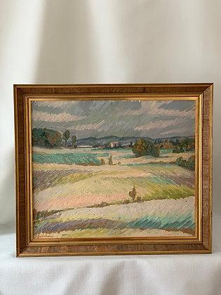 Framed Oil by Sten Dahlström