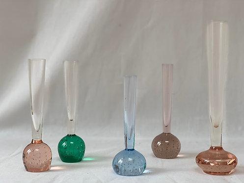 Set of Five Stem Vases