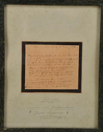 Handwritten poem by Jacob Meyer Münchberg in 1890