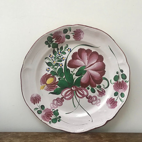Antique French Faience Charger Plate