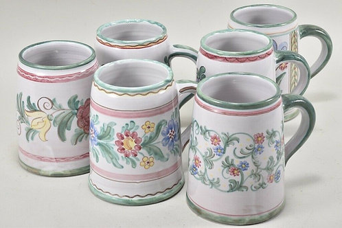 Hand Painted Ceramic Mugs, German