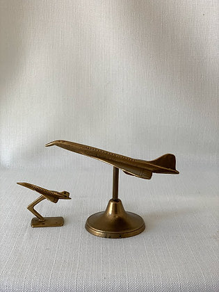 Set of Two Brass Concorde Ornaments