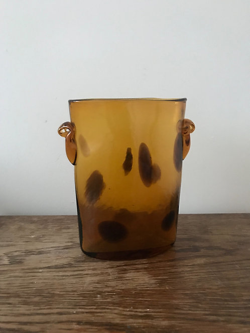 Thick Glass Tortoise Shell Vase