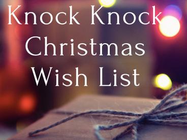 Knock Knock Christmas Wish List