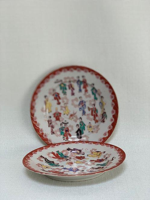 Pair of Japanese Tea Plates