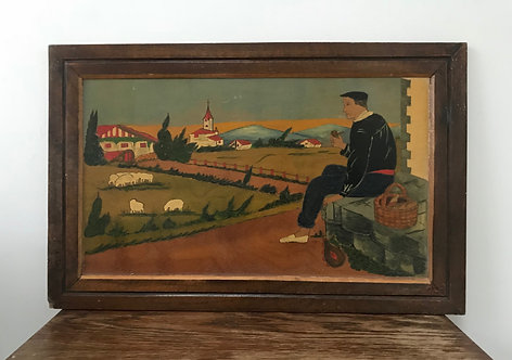 French Folk Art Picture