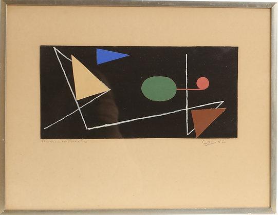 Framed Mixed Media, '52, Unknown Artist