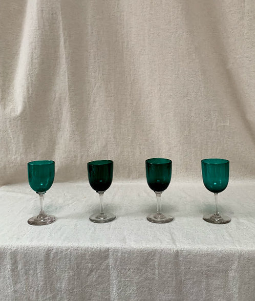 Set of Four Late 19th Century Glasses
