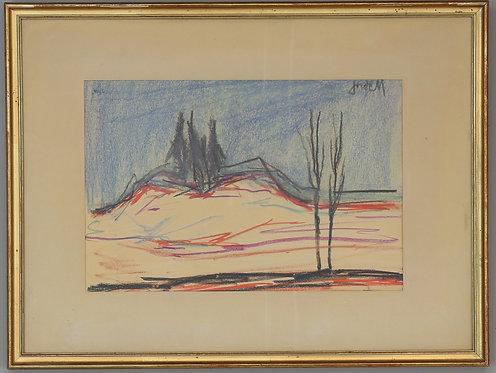 Signed Pastel by Ivan Jordell