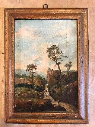 Interesting Rural Oil Painting