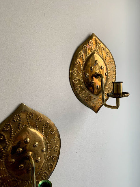 Early 20th Century Swedish Brass Sconces