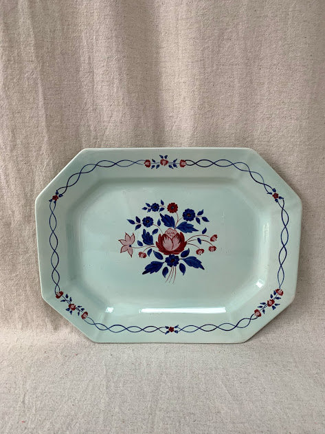 Adams Calyx Ware Floral Serving Platter