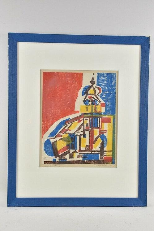 Colour Woodcut, signed Regina Schuh, 37/50, 19
