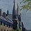 Thumbnail: Framed Oil, Mid Century, City Street