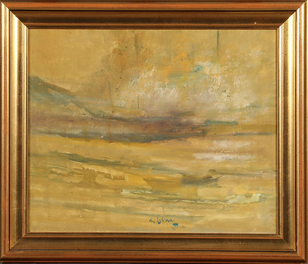 Framed Oil Painting, 20th Century