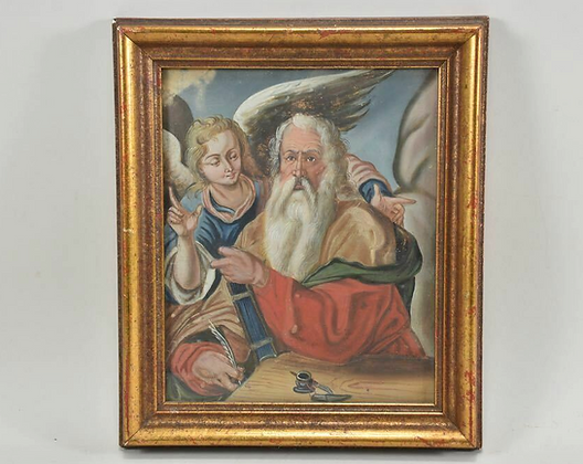 19th Century Painting, Apostle With Angels