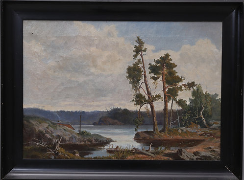 Framed Oil Painting on Canvas, Swedish