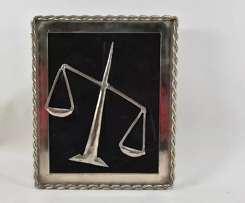 Vintage Framed Star Sign,  Libra