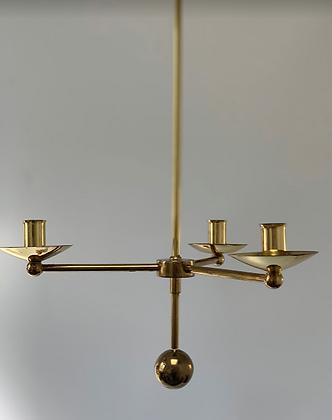 Swedish Brass Chandelier by Sölve Carlsson Helsingborg