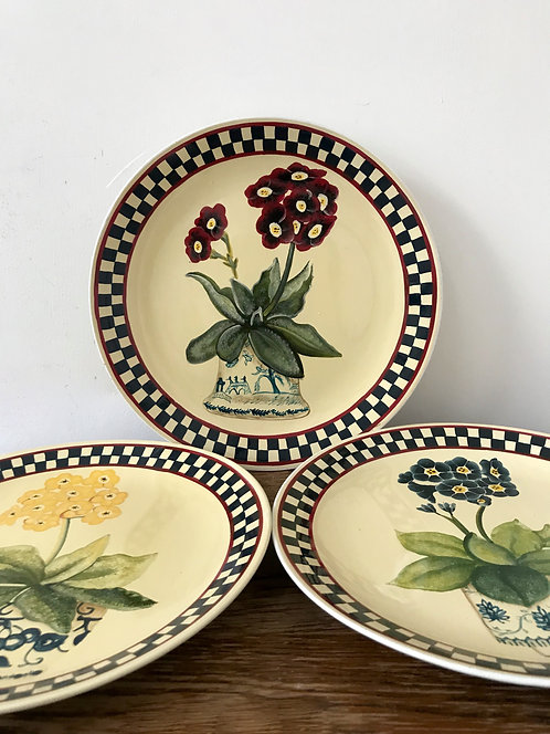A Set of Three Rare collectable wall plates by Sarah Akin-Smith.
