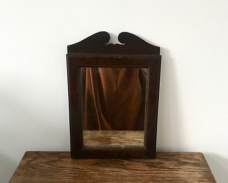 Antique Victorian Wooden Wall Hanging Mirror