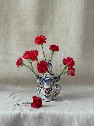 Antique French Rouen Faience Tulip Vase