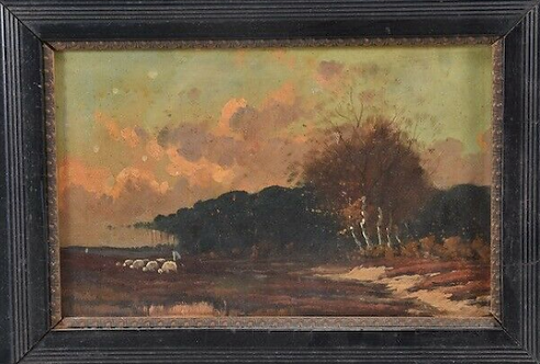 Framed Oil Painting, German, 19th Century