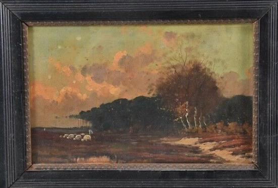 Framed Oil Painting, German, 19th Century