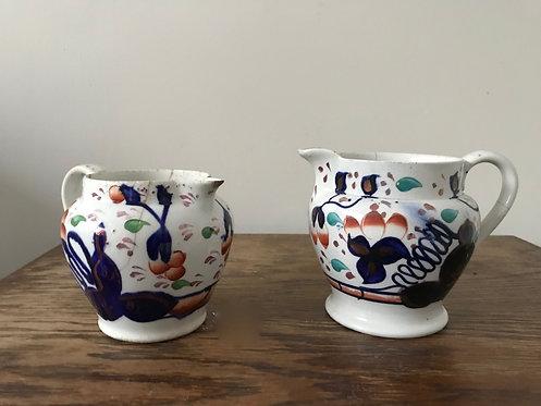 Pair of Imari Patterned Jugs