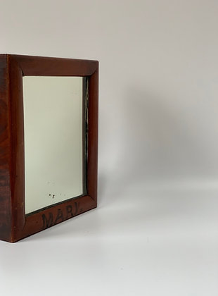 Edwardian Glass With Wood Frame - Monogrammed MARV