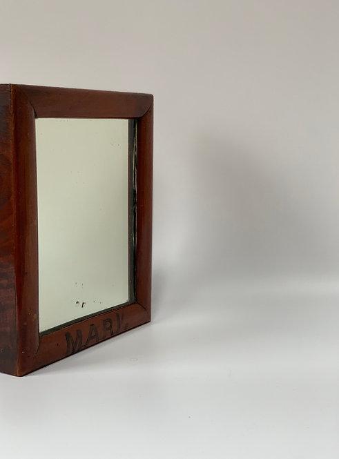 Edwardian Glass With Wood Frame - Monogrammed MARV