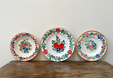 Set of Three Small Wall Plates